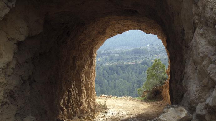 El Valle visto desde el túnel