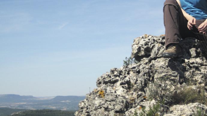 En lo alto del Pico Caroche